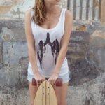 T-Shirt Lunge woman
